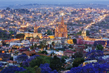 Historical Centre of San Miguel De Allende at Dusk Photographic Print by Jeremy Woodhouse