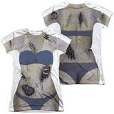 Juniors: Bikini Zombie Costume Tee (Front/Back Print) Shirt
