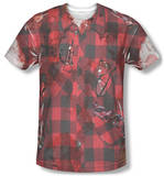 Hipster Zombie Costume Tee Sublimated