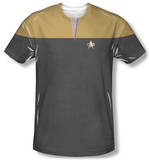Star Trek Voyager - Command Uniform Costume Tee T-shirts