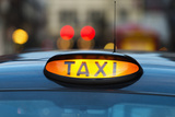 Uk, England, London, Sign on Taxi Cab Photographic Print by Tetra Images