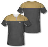 Star Trek Voyager - Command Uniform Costume Tee (Front/Back Print) T-shirts