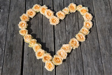 Roses Arranged in Heart Shape Photographic Print by Judith Haeusler