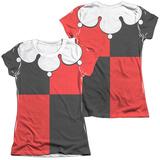 Juniors: Batman - Harley Quinn Costume Tee (Front/Back Print) T-shirts