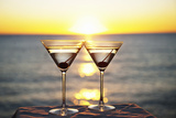 Martinis on Table Outdoors Stampa fotografica di Bill Holden