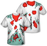 8 Bit Zombie Costume Tee (Front/Back Print) T-Shirt