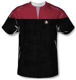 Star Trek Voyager - Command Uniform Costume Tee Shirt