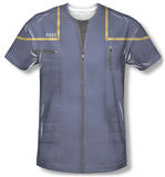 Star Trek - Enterprise Command Uniform Costume Tee Sublimated