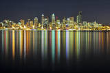Seattle Skyline at Night Photographic Print by Hai Huu Thanh Nguyen