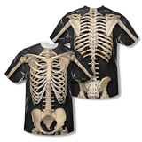 Skeleton Costume Tee (Front/Back Print) Vêtements