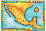 Map of Mexico Photographic Print by Jennifer Thermes