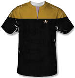 Youth: Star Trek Voyager - Command Uniform Costume Tee T-Shirt