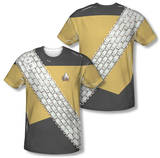 Star Trek - Worf Uniform Costume Tee (Front/Back Print) Sublimated