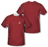 Youth: Star Trek - Engineering Uniform Costume Tee (Front/Back Print) T-shirts