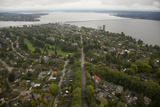 Seattle and Lake Union from Above Photographic Print by John & Lisa Merrill