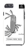 The New Yorker - French Army Knife - iPhone 6 Case iPhone 6 Case by Michael Crawford