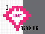 I Heart Pixel Reading 4 Prints