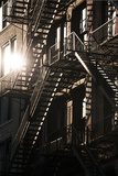 Fire Escapes, 17Th Street, New York City Photographic Print by David Clapp