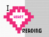 I Heart Pixel Reading 1 Poster