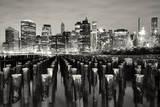 Manhattan at Night Photographic Print by Shobeir Ansari
