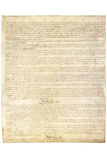 U.S. Constitution Page 3 Art Poster Print Print