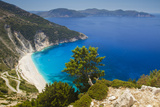 Myrtos Beach in Kefalonia Photographic Print by Alex Bramwell