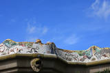 Mosaic Railings in Gaudi's Park Guell, Barcelona, Photographic Print by Vincenzo Lombardo