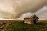 Broken down Shack with Dramatic Sky Photographic Print by J. Andruckow