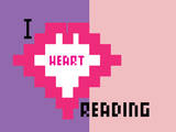 I Heart Pixel Reading 8 Prints