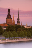 Bell Towers and Spires in Riga's Old Town Photographic Print by Doug Pearson