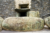 The Triple Spiral and Diamonds Stone at Newgrange Entrance Posters by  unapixie