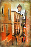 Old Pictorial Streets of Ancient Town of Spain - Artistic Picture Photo by  Maugli-l