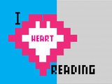 I Heart Pixel Reading 3 Print