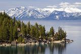 The Famous Property of the Thunderbird Lodge is Framed by Lake Tahoe and the Snow-Capped Peaks of T Photographic Print by Rachid Dahnoun