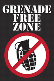 Jersey Shore Grenade Free Zone TV Poster Print Posters