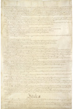 U.S. Constitution Page 2 Art Poster Print Prints