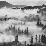 Sapa Town in Cloud-North Vietnam Photographic Print by HNH Images