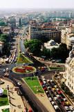 Overhead of University Square and IC Bratianu Blvd, Bucharest, Romania, Europe Photographic Print by Richard I'Anson