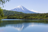 Mt. Fuji Reflected in Lake, Saiko Photographic Print by  ULTRA.F