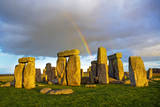 Rainbow over Stonehenge Photographic Print by Scott E Barbour