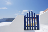 Gateway and Ocean, Oia, Santorini Island, Cyclades Islands, Greek Islands, Greece Photographic Print by Martin Ruegner