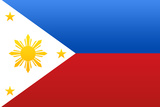 Philippines National Flag Poster Print Print