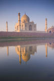 Taj Mahal with Reflection in the Yamuna River Photographic Print by Ben Pipe Photography