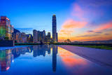 Sunset at Central, Hong Kong Photographic Print by William C. Y. Chu