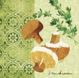 Fresh Linen Mushroom Posters by Lola Bryant
