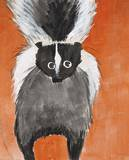 Playful Skunk Prints by Madelaine Morris