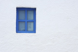 Blue Window of Church, Oia, Santorini Island, Cyclades Islands, Greek Islands, Greece Photographic Print by Martin Ruegner
