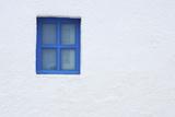Blue Window of Church, Oia, Santorini Island, Cyclades Islands, Greek Islands, Greece Photographic Print by Martin Ruegner