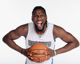 Denver Nuggets Media Day Photographic Print by Garrett Ellwood