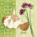 Fresh Linen Garlic Prints by Lola Bryant